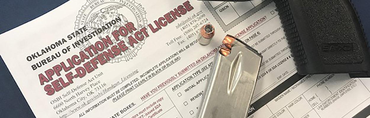 Handgun license application