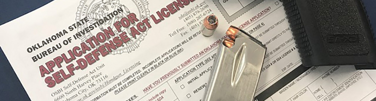Photo of Application for Self-Defense Act License